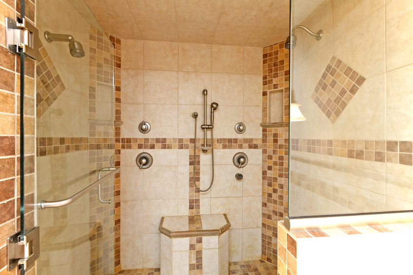 Double walk-in shower